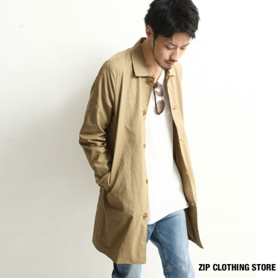 防潑水大衣 ZIP日本男裝