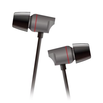 T.C.STAR 鋁合金入耳式帶麥耳機/黑色 (TCE6050BK)