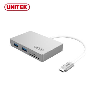UNITEK 優越者USB3.1Type-c轉USB3.0HUB+讀卡機+充電