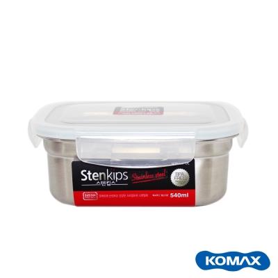 Komax 司扣易不鏽鋼密封保鮮盒-原色-長方 540ml