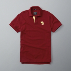 AF a&f Abercrombie & Fitch 短袖 POLO 紅色 185