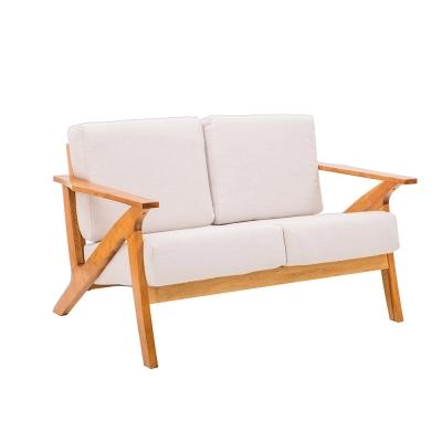 日木家居 Ian伊恩實木雙人沙發