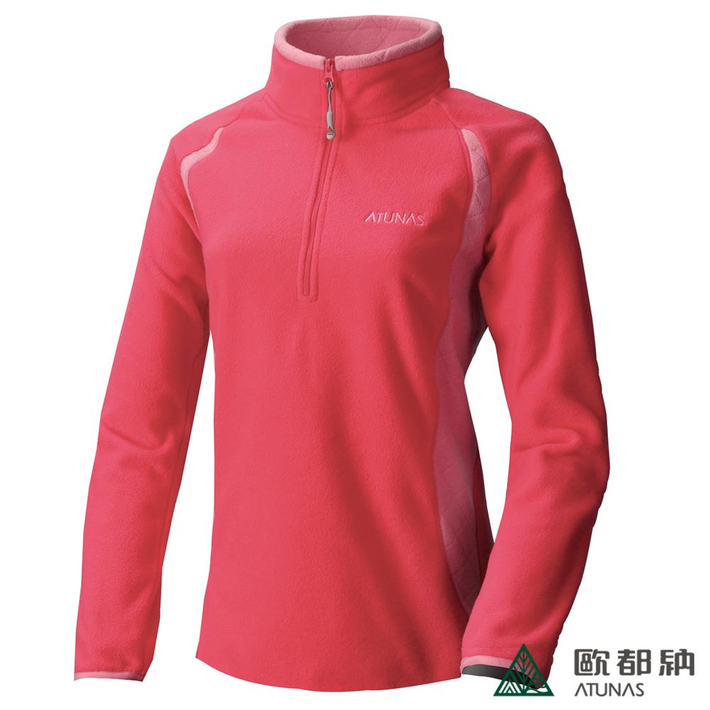 歐都納 A-P1242W 厚Fleece長袖保暖POLO衫(女款)