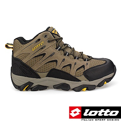 LOTTO 義大利 男 Sabre Mid 戶外登山鞋(卡其)