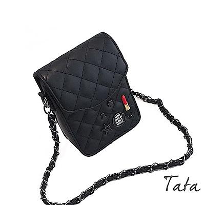 唇膏飾品菱格鏈條單肩包 TATA
