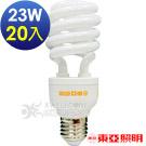 東亞照明 23W半螺型燈泡【中國製造 】黃光20入