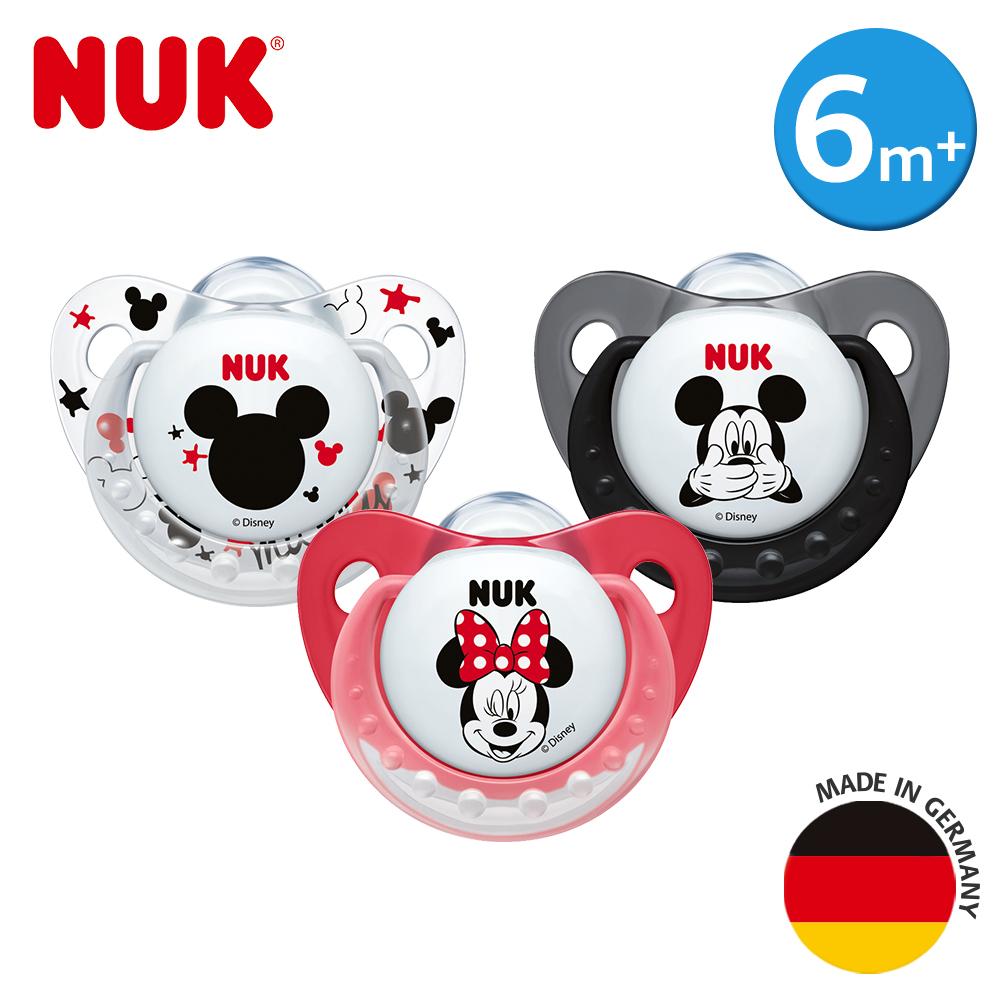 NUK米奇安睡型矽膠安撫奶嘴-一般型6m+1入(顏色隨機出貨)