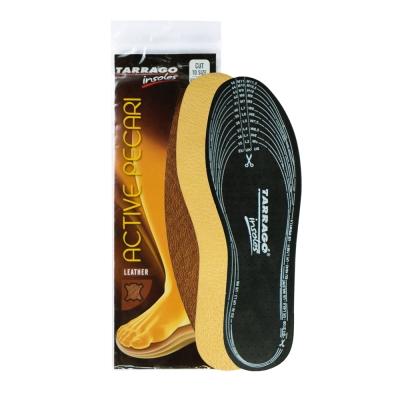 【TARRAGO塔洛革】羊皮鞋墊(全尺寸可自行剪裁)-採用植物鞣革製成羊皮革搭配活性碳乳膠