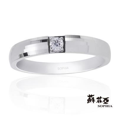 蘇菲亞SOPHIA 鑽石男戒 - 紀念日0.08克拉鑽石男戒