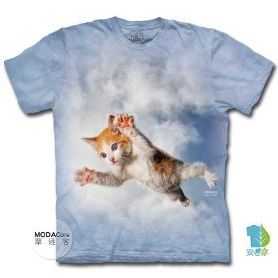 摩達客 預購 美國進口The Mountain 藍天飛撲小貓 短袖T恤
