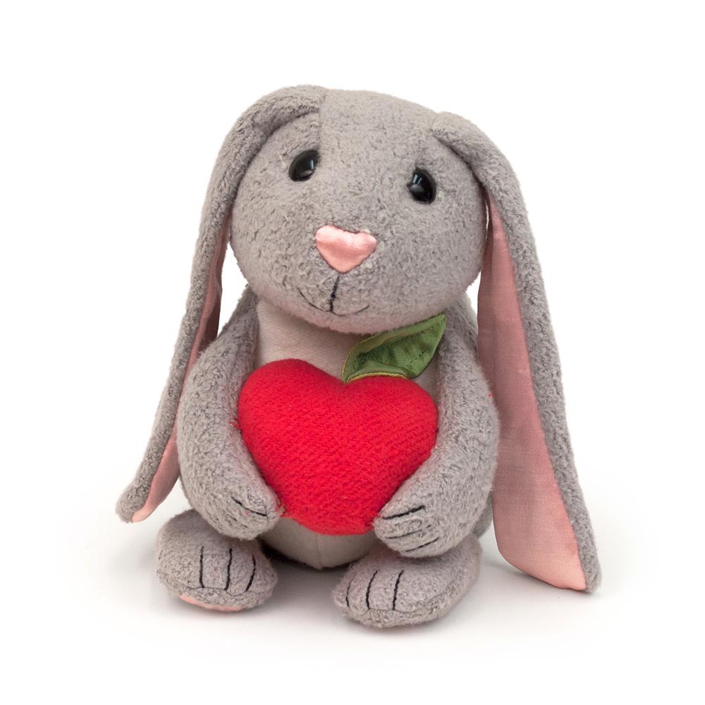 【美國 Apple Park】有機棉玩偶彌月禮盒 - 蘋果小兔