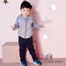 Little moni 百搭素面長褲 (深藍)