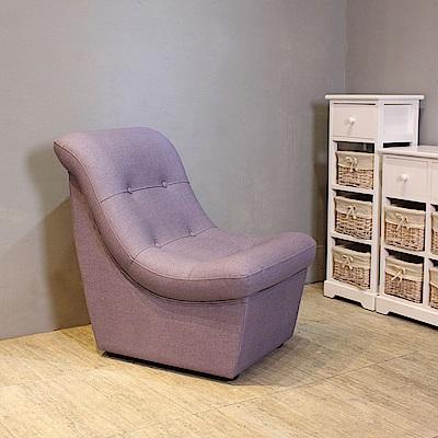 Asllie貝琪小沙發椅(精選貓抓皮革)紫-52x68x72cm