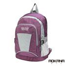 AOKANA奧卡納 輕量防潑水休閒小型後背包(寧靜紫)68-088