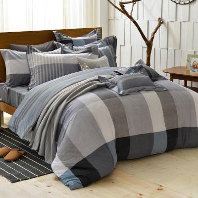 義大利La Belle 單人純棉防蹣抗菌吸濕排汗兩用被床包組-英式風格