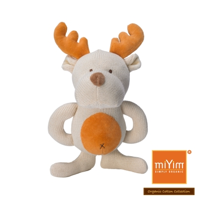 美國miYim有機棉 固齒器 娃娃禮盒系列-麋鹿