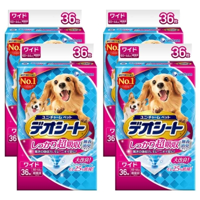 日本Unicharm消臭大師 超吸收狗尿墊 LL號 36片裝 x 4包