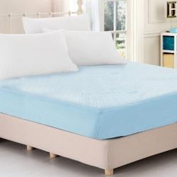 天絲抑菌防蹣吸濕排汗舒柔布100%防水床包式保潔墊-雙人