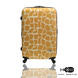 Just Beetle動物樂園系列之長頸鹿紋24吋輕硬殼旅行箱/行李箱-黃金色