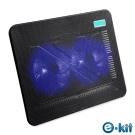 逸奇e-Kit CKT-N192_11cm雙風扇超薄筆電散熱墊