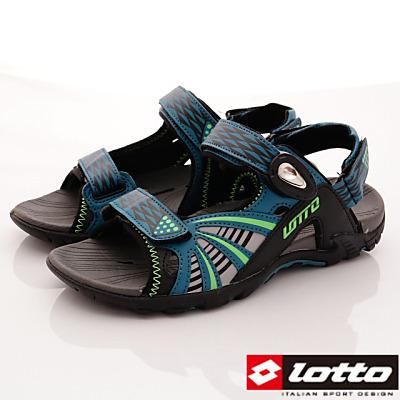 Lotto樂得-山水車磁扣排水涼鞋款-FI195湖