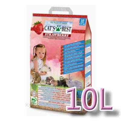 德國凱優CAT'S BEST《木屑粗砂-草莓香味》10L