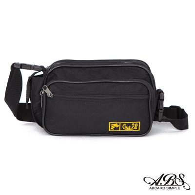ABS愛貝斯 台灣製造輕量防潑水大型多層腰包 側邊萬用小袋設計(黑)701A