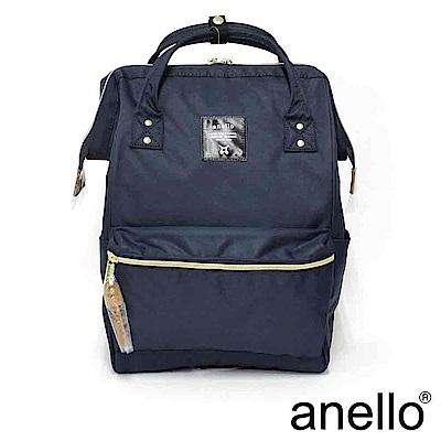 日本正版anello  經典口金後背包 深藍色 L