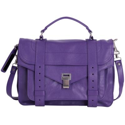 PROENZA SCHOULER PS 1 /C 1  山羊皮革兩用包(中/紫色)