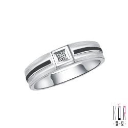 K'OR蔻兒 專屬幸福鑽石/白鋼男戒指