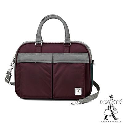 PORTER-放色時尚PLAY小型時尚兩用包-深紫-灰