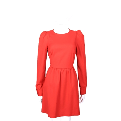 LOVE MOSCHINO 紅色公主袖設計長袖洋裝