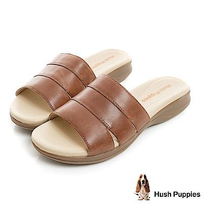 Hush Puppies HART 舒適減壓涼拖鞋-棕色