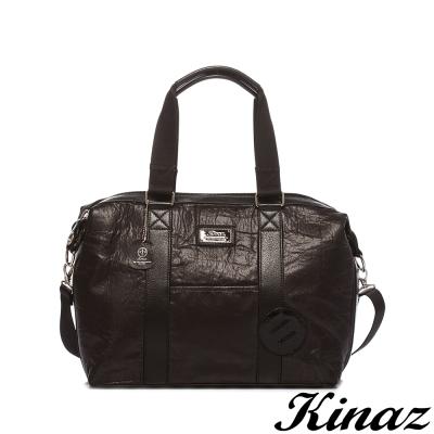 KINAZ-navy-時尚態度兩用旅行包-趣味插頭系列-特賣品