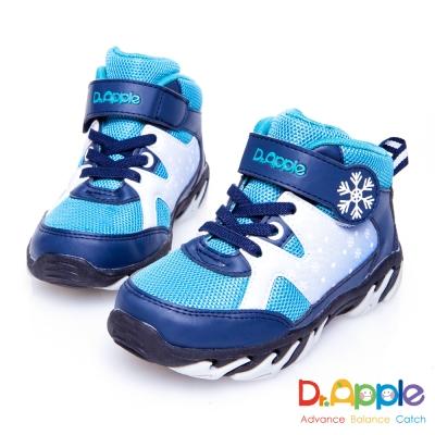 Dr. Apple 機能童鞋 白雪飄飄溫暖中筒童靴 藍