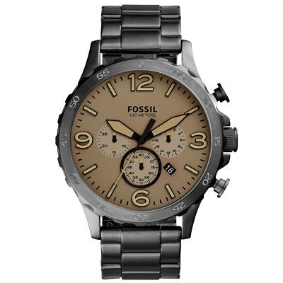 FOSSIL 重裝教士三眼運動計時腕錶-JR1523/50mm