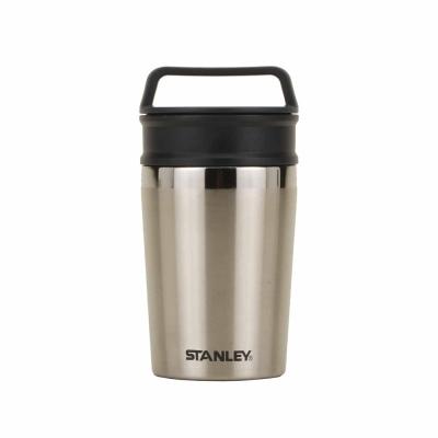 【美國Stanley】冒險系列輕巧隨身兩用保溫杯236ml-不鏽鋼原色