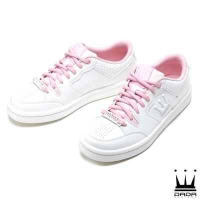 (女) DADA SHOTCALLER 經典復古低筒籃球鞋-櫻花粉