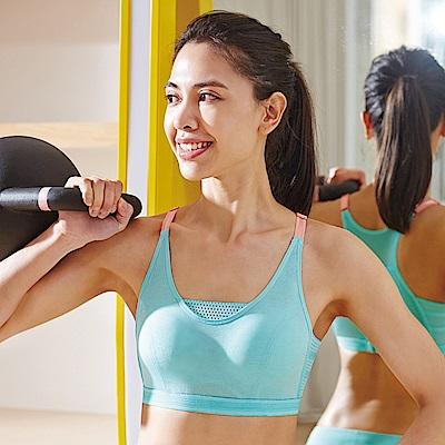 蕾黛絲-釋壓運動背心運動內衣 M-EEL(水漾綠)