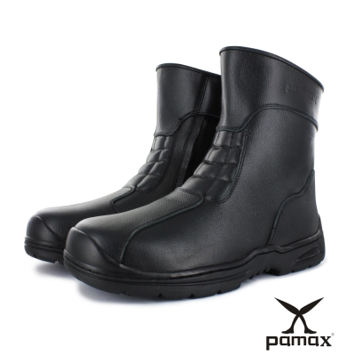 PAMAX 帕瑪斯【頂級專利氣墊、機車鞋造型工作靴】長筒獨特內側拉鏈