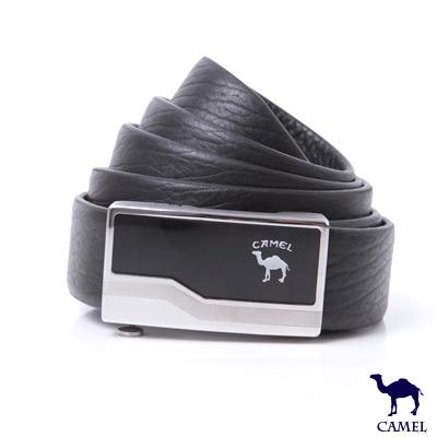 CAMEL駱駝 - 型男雅痞自動滑扣頭層牛皮皮帶