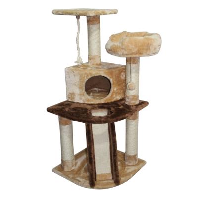 Doter寵愛物語 溜滑梯貓跳台 全貓用 米+深咖啡色 x 1入