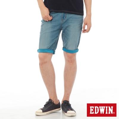 EDWIN-迦績褲JERSEYS內藏腰頭牛仔短褲-男-中古藍