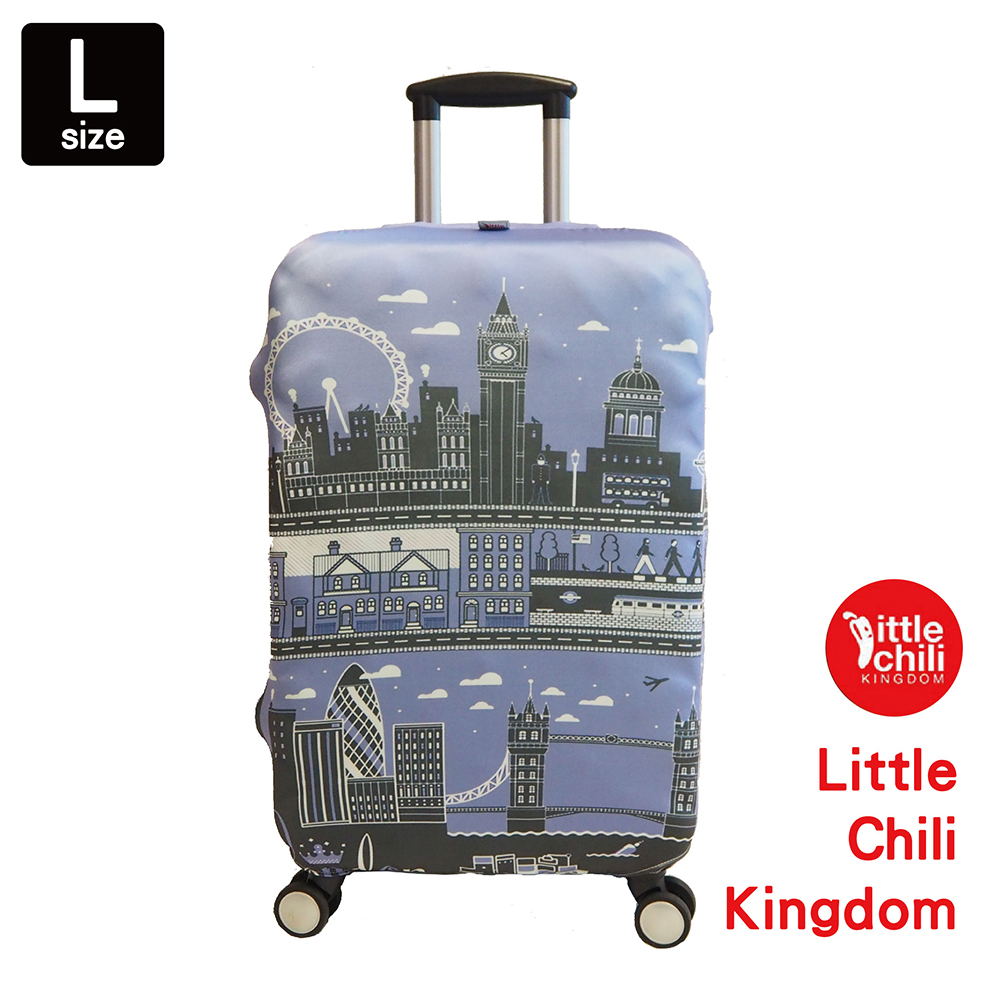 LittleChili行李箱套534-英國倫敦藍-L