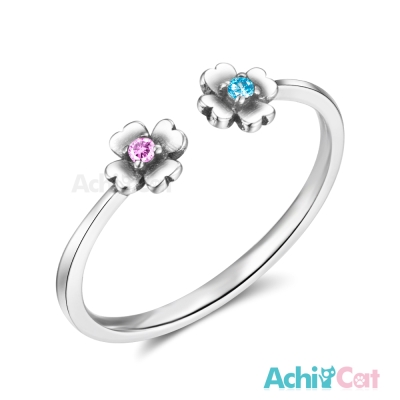 AchiCat 925純銀戒指尾戒 綺麗小花