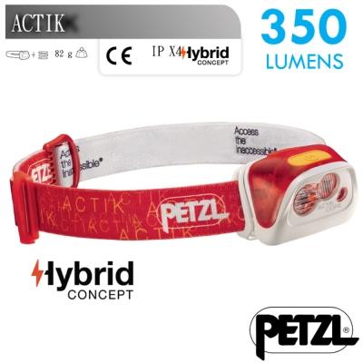 【法國 Petzl】新款 ACTIK CORE 超輕量高亮度頭燈((350流明)_紅