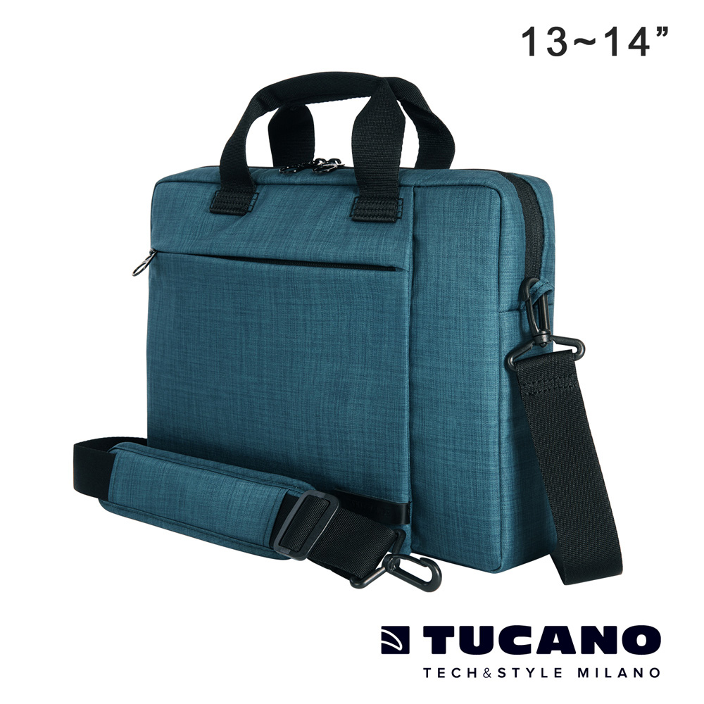 TUCANO SVOLTA 13/14吋都會風尚側背包-藍