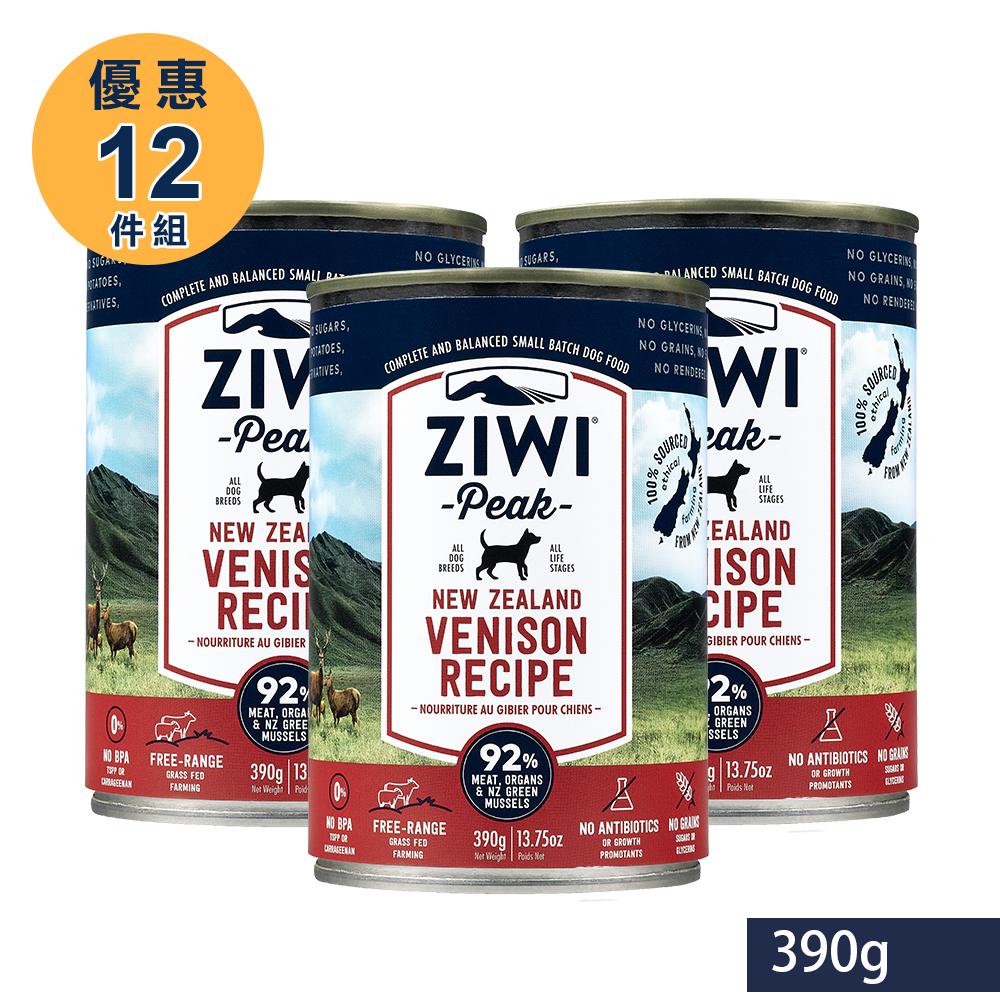 ZiwiPeak 巔峰 92%鮮肉狗罐 鹿肉 390G(一箱12罐)
