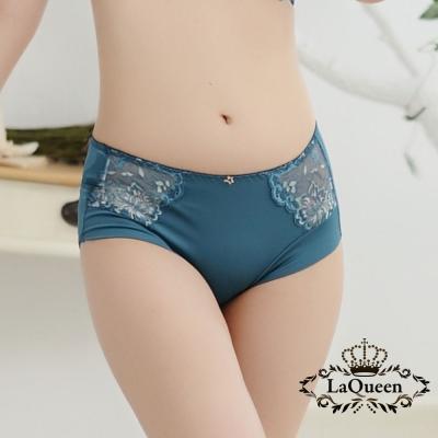 內褲  性感繡花蕾絲小褲-丈青 La Queen