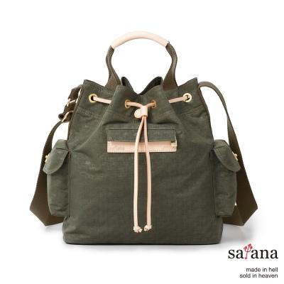 satana - 小抽繩水桶包 - 午夜森林